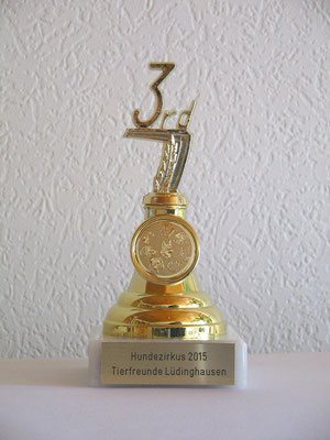 3 Platz Tierfreunde Lüdinghausen 28.06.2015
