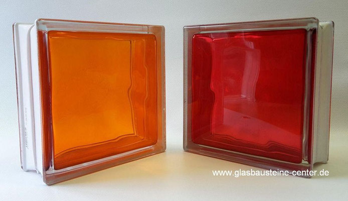 Brilly red orange Glasbausteine Glassteine Glass Blocks Glasblock Glass Blokker Glasblokke Lasitiilet Briques Blocs de verre Glazen Bouwstenen Glastegel Österreich Schweiz Luxemburg Nederland Sviss Luxembourg Lëtzebuerg Suisse Glasbaustein-cente.de