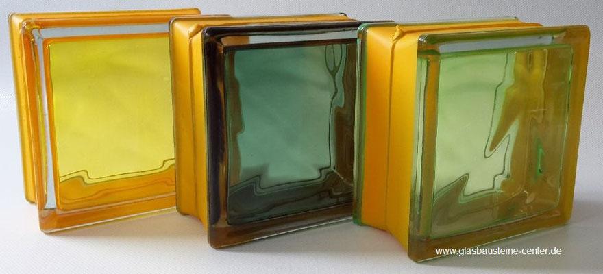 MyMiniGlass MG/s MINI 14,6x14,6x8 15x15 Type Vegan Green Yellow Emerald Seves Design Glasbausteine Glasstein Glass Blocks Glass Blokker France Glasblokke Briques de verre Glasblock Glazen Bouwstenen Glasblock Österreich Danmark Nederland MG Glasbaustein