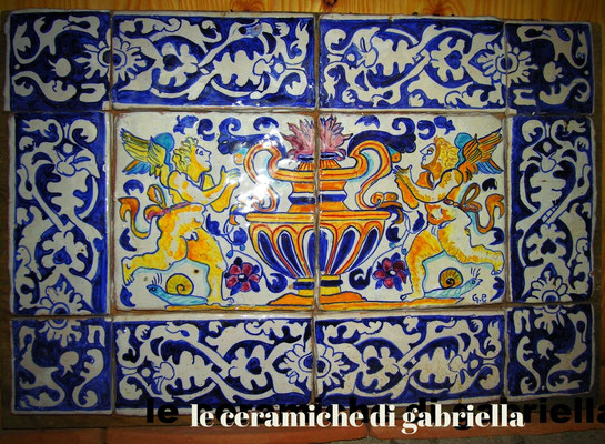 pannello di ceramica antica riproduzione