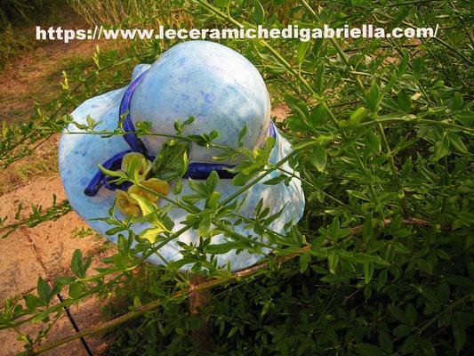 cappello di ceramica creato interamente a mano design