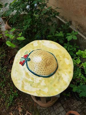 cappello di ceramica fatto a mano scultura 55 cm