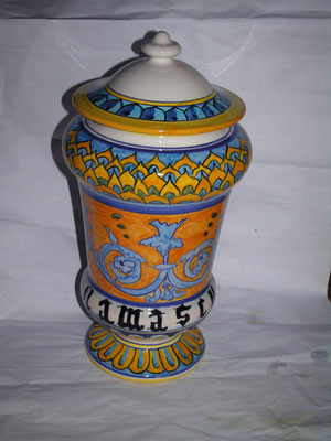 vaso da farmacia albarello alto 40 cm 95,00 euro damascum
