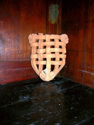 applique medievale con foglie di ginkgo biloba cotto fatto a mano pezzi unici prezzo 35,00 euro