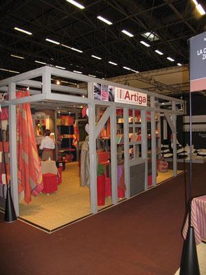 conception et fabrication du stand Artiga, avec Qombo