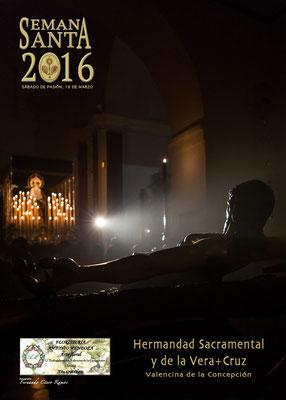 Cartel anunciador Semana Santa 2016, Valencina de la Concepción (Sevilla). Hdad. de la Vera-Cruz.