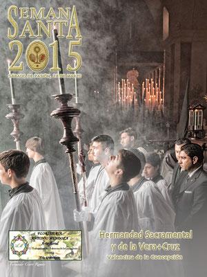 Cartel anunciador Semana Santa 2015, Valencina de la Concepción (Sevilla). Hdad. de la Vera-Cruz.