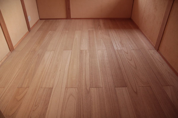 美しい桐の床