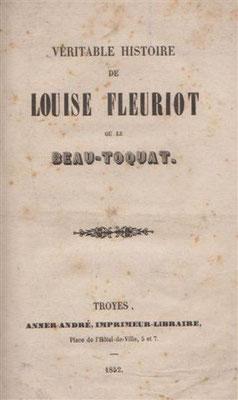 Livre d'époque sur Louise Fleuriot