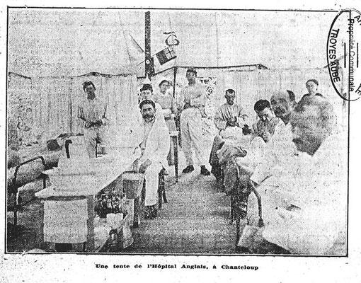 Chanteloup devenu hôpital en 1915