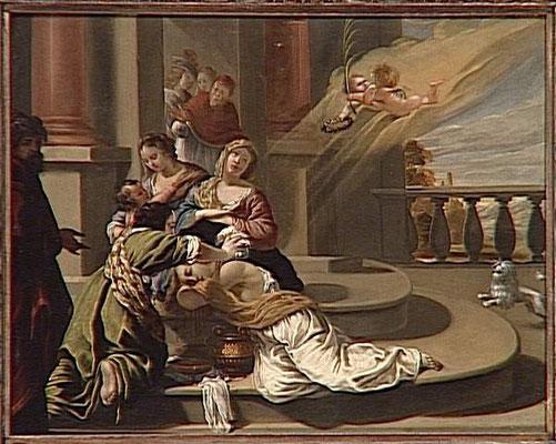 Sainte Praxède soignant les chrétiens suppliciés