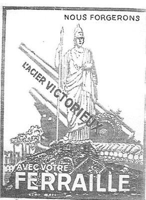 Affiche au début de la guerre en 1939