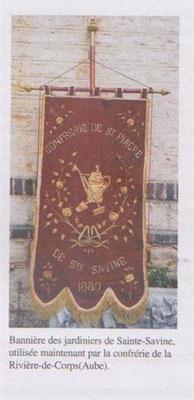 Bannière de la confrérie des jardiniers de Ste Savine