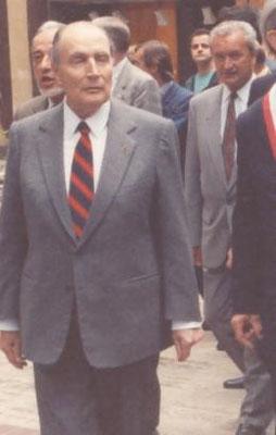 François Mittérand et Jacques Schweitzer