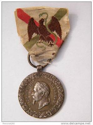 Médaille reçu du Mexique