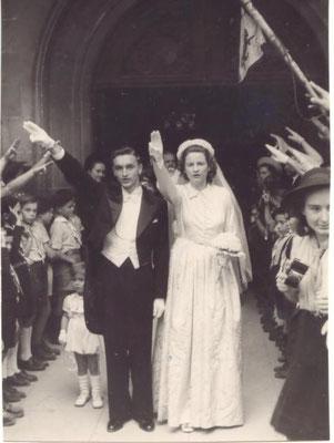 MARIAGE SCOUT  ( Mme et Mr Jacques Schweitzer)