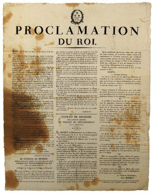Proclamation de LouisXVIII