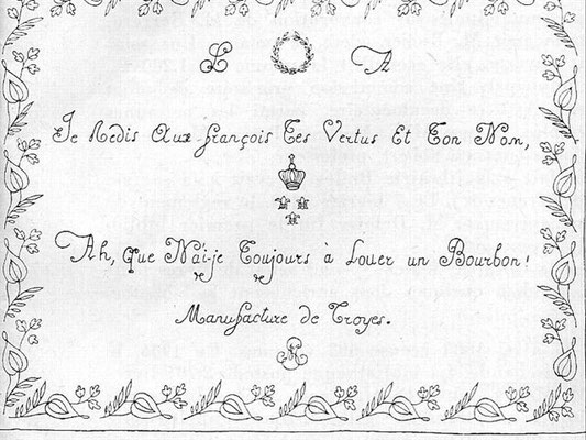 Filigrane Louis Philippe et reine Marie-Antoinette
