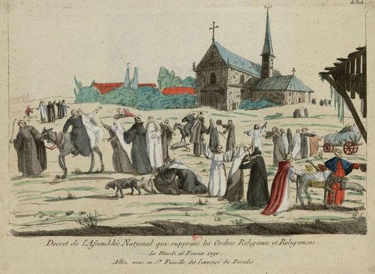Suooression ordres religieux