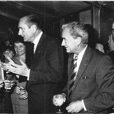 Jacques Schweitzer avec le président Chirac
