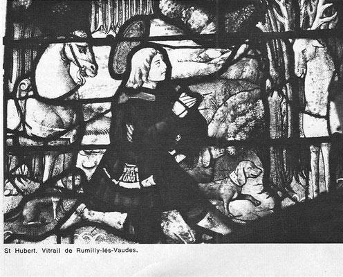 Vitrail Saint Hubert de Rumilly-les-Vaudes