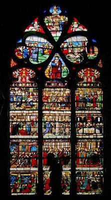 Vitrail de Ste Madeleine offert par S. Liboron