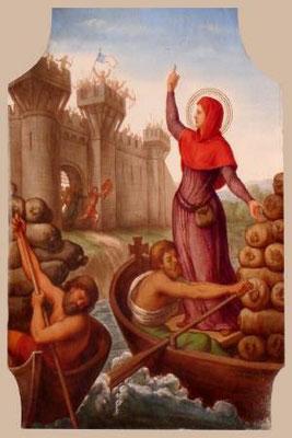 Ste Geneviève revient à Paris avec les 11 bateaux chargés dans l'Aube