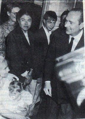 Mme Boutten et le 1er Ministre Chirac sur un chantier de la Mission Locale