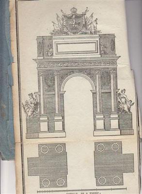 Arc de triomphe devant l'Hôtel de Ville