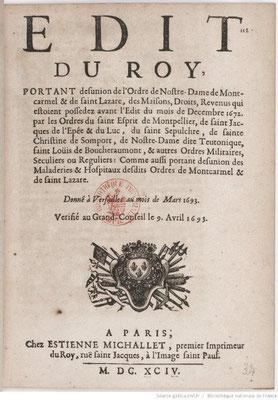 Edit de Louis XIV