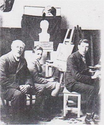Désiré Briden donnant ses cours à l'Ecole de dessin