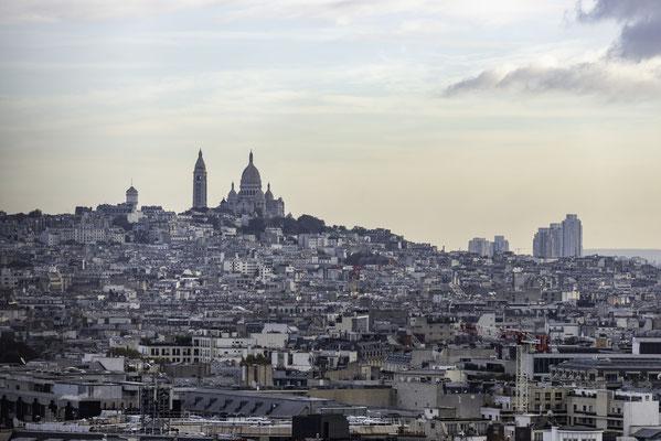 Aussicht vom Arc de Triomphe in Richtung Sacrs Coeur