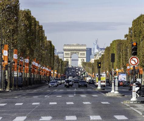 Arc de Triomphe und Champs Elysee