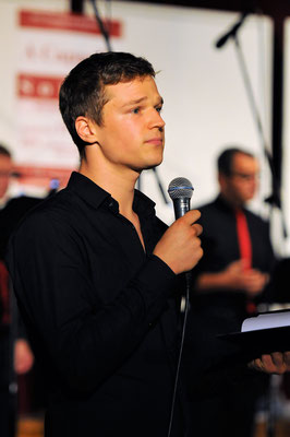 Moderator Johannes Lange