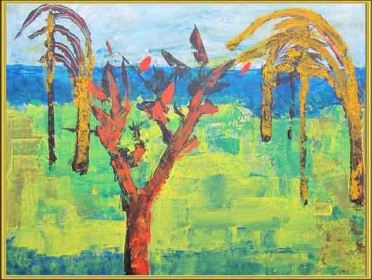 paysage / acrylique sur papier