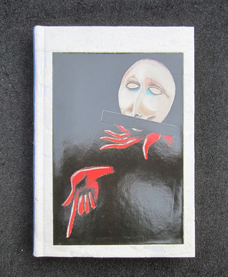 papier mural, sur Jean Picquet, livre muet [impossible à ouvrir, tranches et couvertures étant collées]