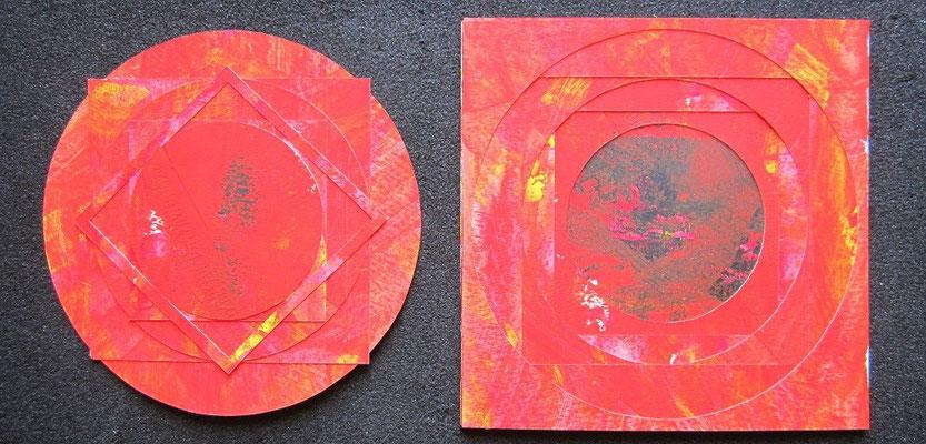 cercles & carrés / acrylique sur papier