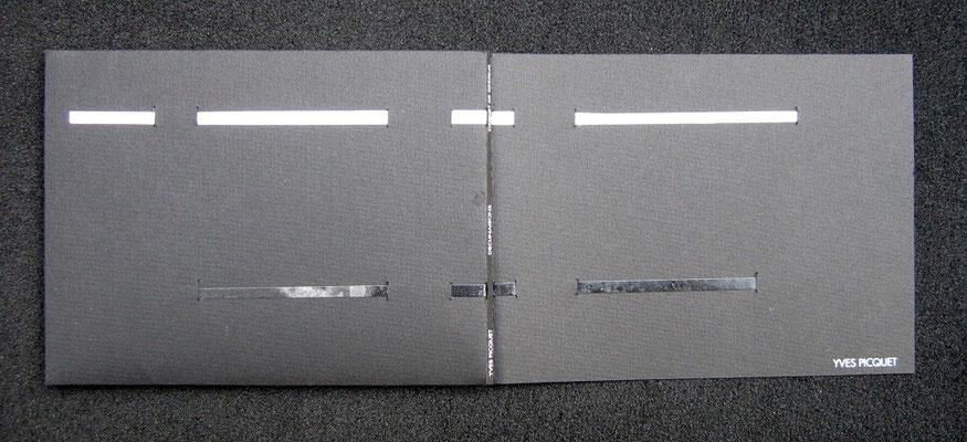 reliure de conservation, papier et rubans de tyvek, sur Yves Picquet, carnet de dessins
