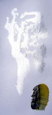 danse 3 / vernis à ongle sur papier