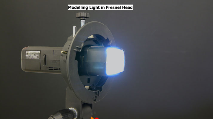 fresnel lens xenon speedlite has led modelling lights