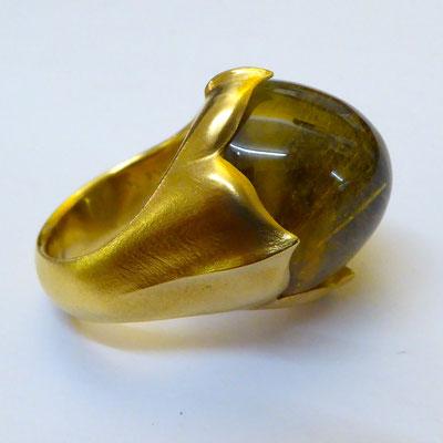 Ring mit Turmalin, Gelbgold 750