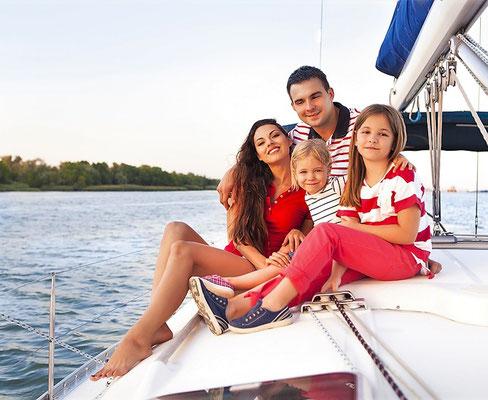 Katamarantörn in Italien Toskana Familie