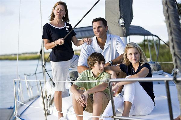 Luxus-Katamaran Neapel Familie