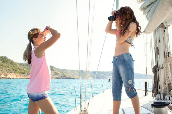 Yachturlaub Familie mit Skipper