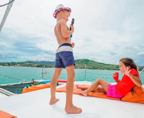 Familien-Flottille ab Pula Katamaran