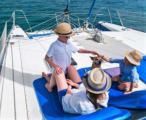 Mitsegeln Mallorca Familie Katamaran