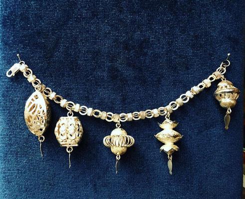 Bracciale argento ciondoli pagode Cinesi