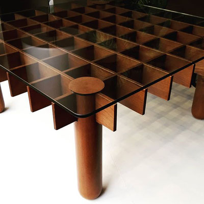 Tavolo basso modello Kyoto di Gianfranco Frattini per Knoll, anni '70