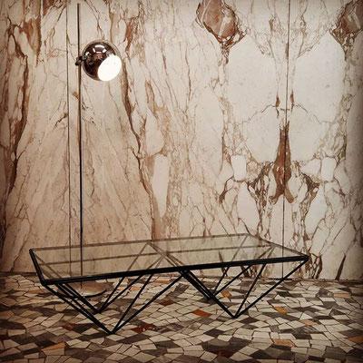 Tavolino Alanda per B&B Italia, - Paolo Piva anni '80 - 120x60