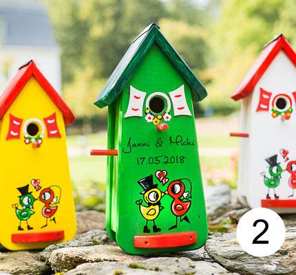 vogelhaus hochzeit original vogelliebe vogelhaus zur. Black Bedroom Furniture Sets. Home Design Ideas